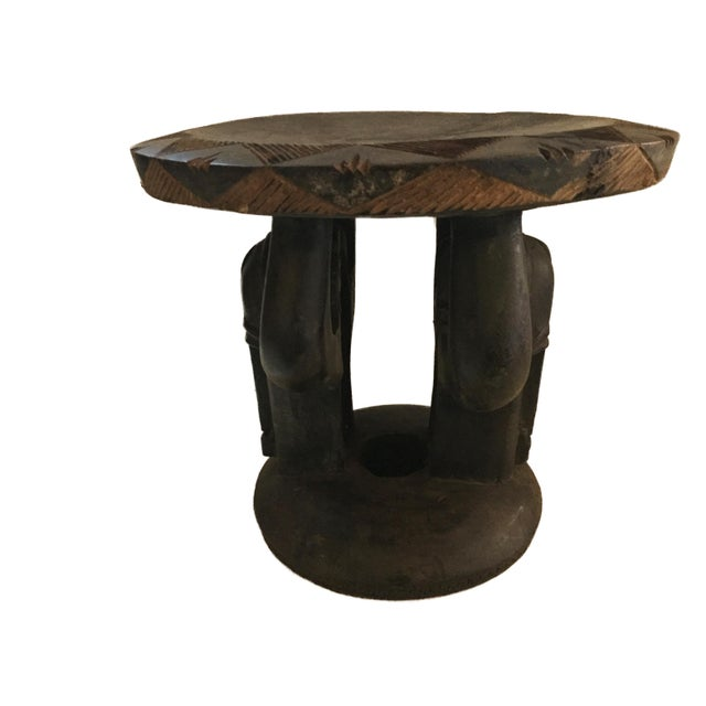 """Superb African Baga Low Stool Guinea 12"""" H For Sale - Image 10 of 12"""