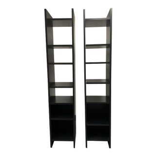 Room & Board Tall Narrow Shelving - a Pair For Sale