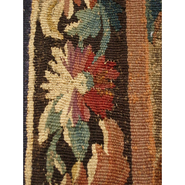 1700s French Aubusson Verdure Tapestry Wall Hanging For Sale - Image 10 of 11
