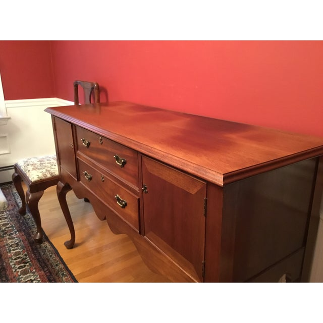 Craftique Mahogany Buffet Server For Sale - Image 4 of 9
