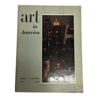 1957 Art in America Spring Summer O'Keeffe Cover For Sale
