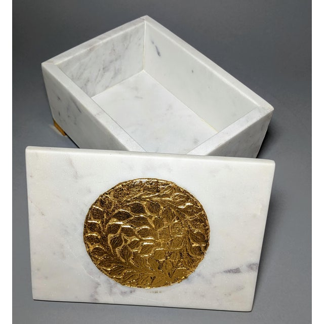 Gold and White Decorative Box For Sale - Image 10 of 13