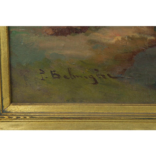 French Impressionism Antique Oil Painting of Fishing Harbor by Paul Balmigere For Sale - Image 4 of 13