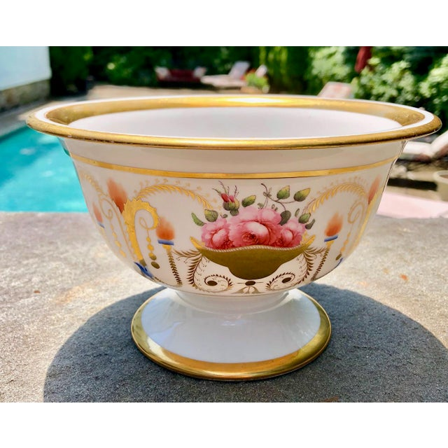 19th English Traditional Davenport Gilt Decorated Billingsley Roses Bowl For Sale - Image 12 of 12