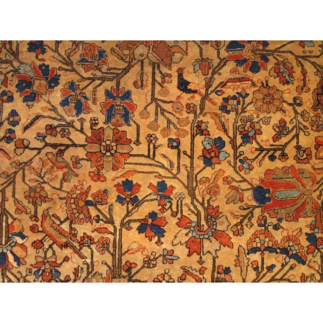 Late 19th Century Exquisite Antique Oversize Mohtashem Kashan Carpet For Sale - Image 5 of 9