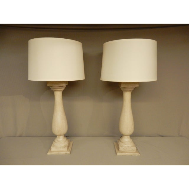 Antique French Baluster Table Lamps - a Pair For Sale In New Orleans - Image 6 of 6