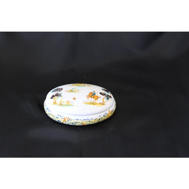 Late 20th Century Vintage Ernan Albisola Italian Ceramic Lidded Trinket Box For Sale - Image 5 of 5