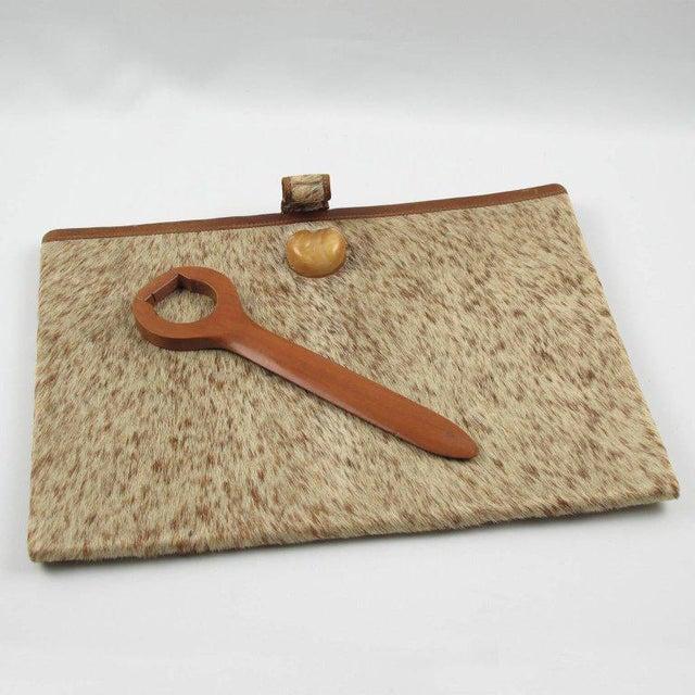 Dan Karner French Art Deco Pony Skin Fur and Leather Desk Set - Image 3 of 11