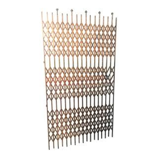 Antique Heavy Metal Brass Otis Elevator/ Lift Scissor Door/Gate For Sale