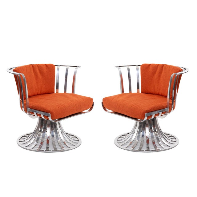 Russell Woodard Polished Aluminum Lounge Chairs - a Pair For Sale In Phoenix - Image 6 of 6