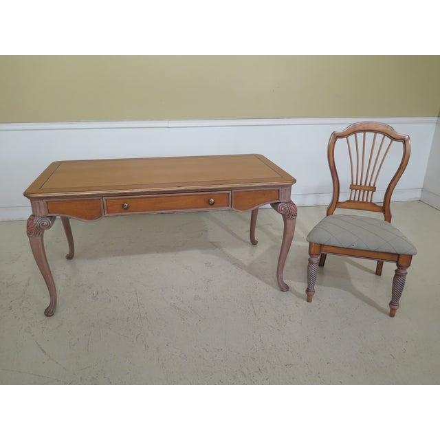1990s Vintage Italian Style Paint Decorated Desk & Matching Chair For Sale - Image 13 of 13