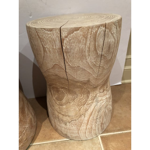 1980s 1980s Vintage Limed Oak Stools- Set of 3 For Sale - Image 5 of 8
