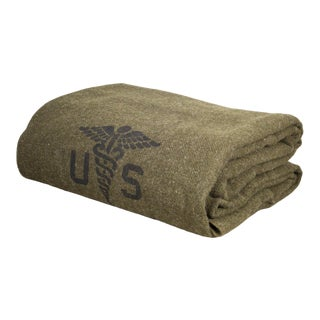 Faribault Foot Soldier Military Army Medic Wool Blanket/Throw For Sale