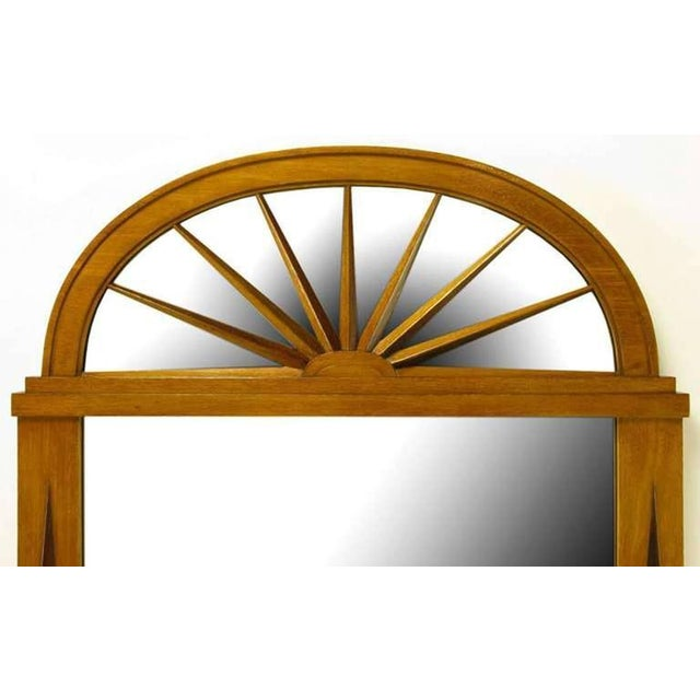 Grosfeld House Sunburst Top Mirror with Integral Brass Sconces - Image 4 of 7