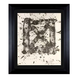 1974 Vintage Sam Francis Hand Signed Lithograph Print For Sale