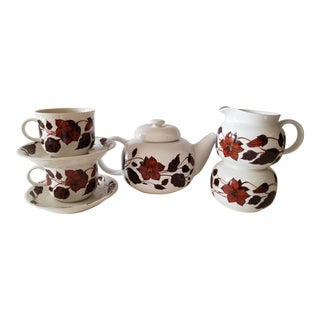 1970s Arabia Finland 70's Tea for Two Olin-Gronqvist - Set of 9 For Sale