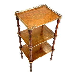 Antique English Regency Etagere Stand For Sale