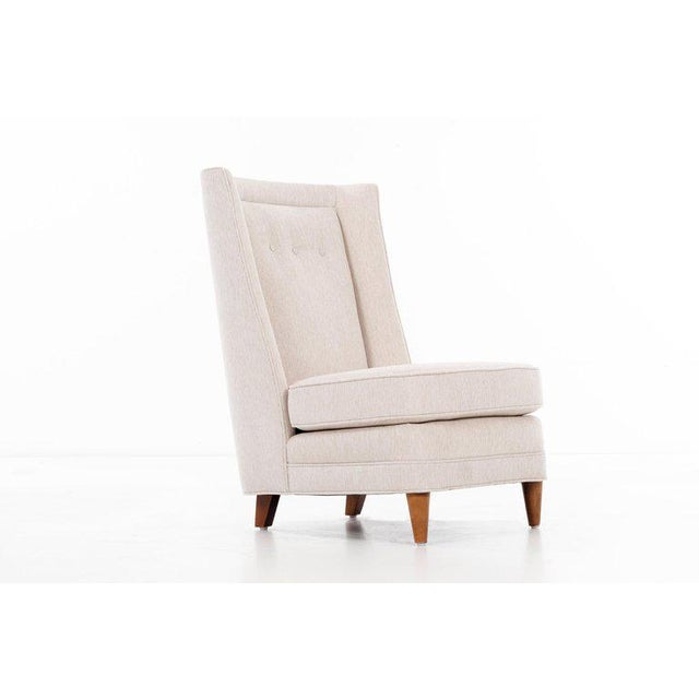 Tan Paul Laszlo High-Back Lounge Chairs For Sale - Image 8 of 12