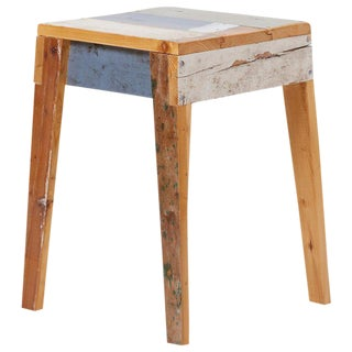 Lacquered Oak Stool by Piet Hein Eek For Sale