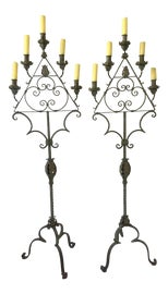 Image of Wrought Iron Candle Holders