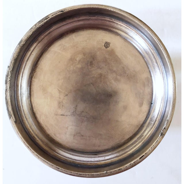 Empire Silver Plate Bottle Coaster For Sale - Image 3 of 5