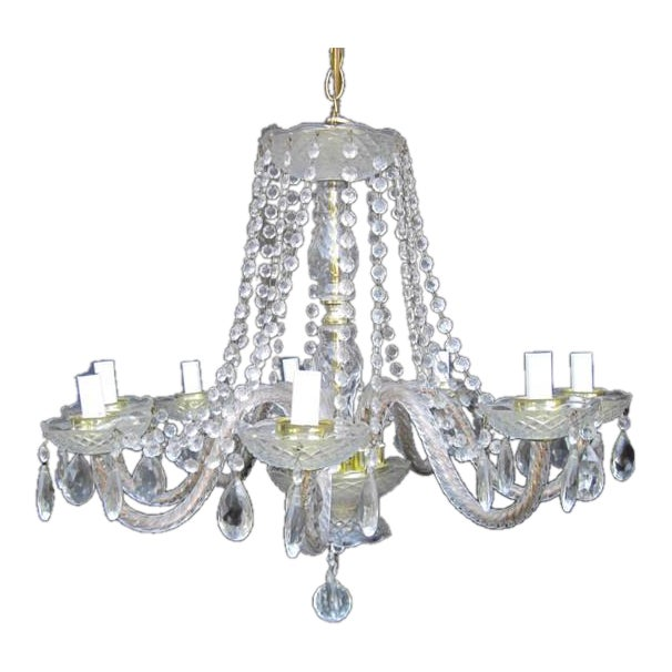 Crystal Waterfall Chandelier For Sale