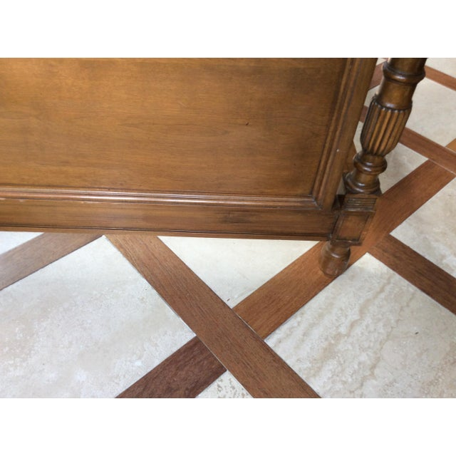 19th Century French Empire Walnut Bedframe For Sale In Chicago - Image 6 of 13
