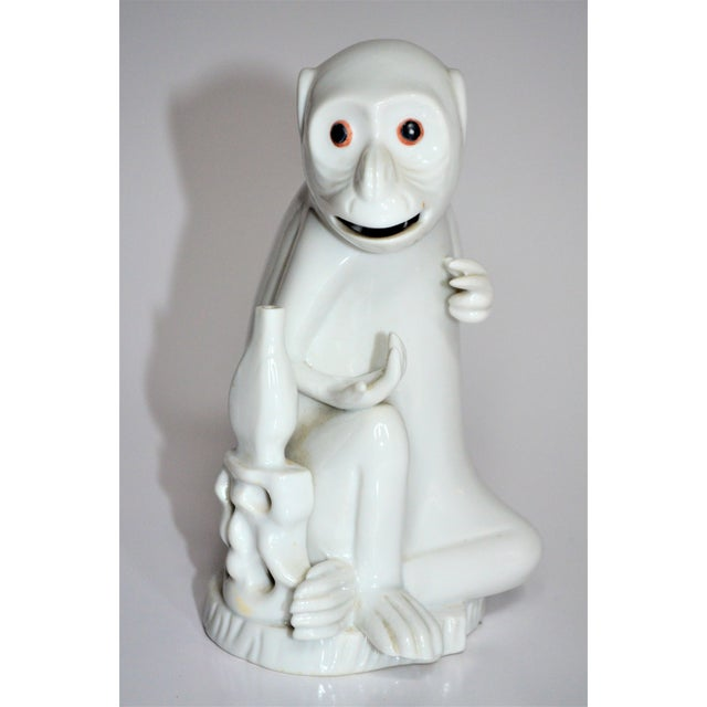 White Vintage Italian White Porcelain Monkey Figurine For Sale - Image 8 of 10