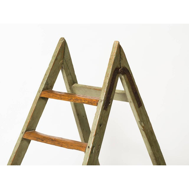 Rustic Antique Style Ladder For Sale - Image 3 of 4