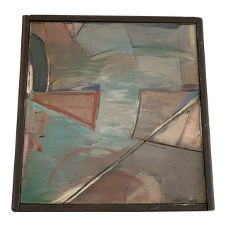 """1980s Abstract """"Lakeview Suite 14"""" Oil Painting on Wood by William Conger For Sale"""