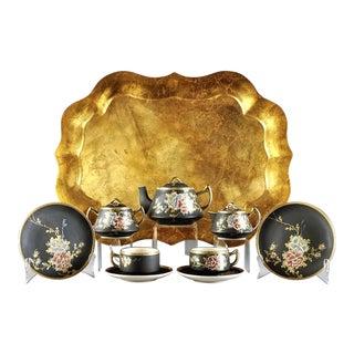 Sweet 20th C. Oriental Tea Set - 24 Pieces For Sale