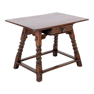 Rustic 18th Century Spanish Baroque Period Side Table For Sale
