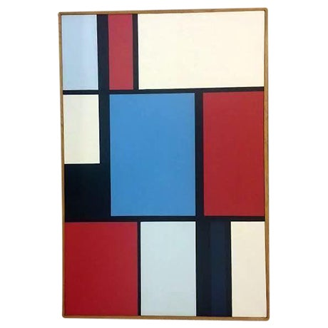Florence Arnold MidCentury Hard Edge Oil Painting - Image 1 of 9
