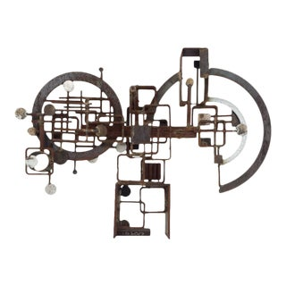 Brutalist Metal Sculpture by Frank Cota For Sale