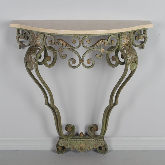 French Louis XV Style Iron Console For Sale - Image 9 of 9