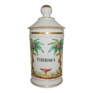 1880s Antique French Theriaca Apothecary Jar For Sale