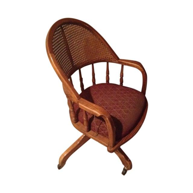 Vintage Cane Lawyers Adjustable Desk Chair - Image 1 of 6