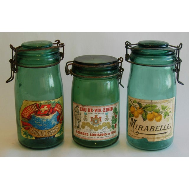 1930s French Canning Preserve Jars - Set of 3 - Image 3 of 8