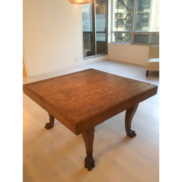 Oak Dining Table with Roll Top Extension - Image 2 of 4
