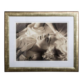Framed Archival Pigment Print of Jean Harlow: George Hurrell, 1936