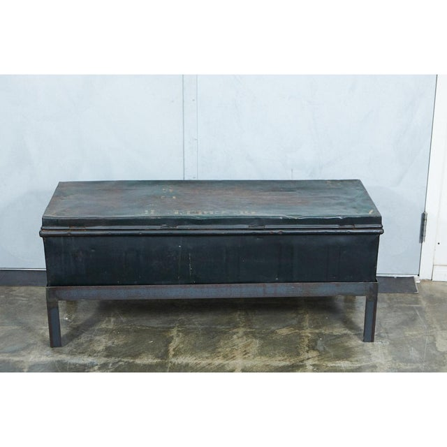 Belgian Military trunk into Coffee Table For Sale In Los Angeles - Image 6 of 7