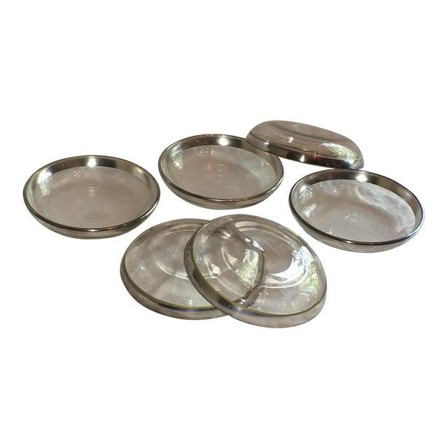 Dorothy Thorpe Silver Rim Plates - Set of 6 - Image 1 of 6