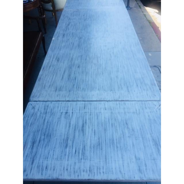 Vintage Carved Wood Refectory Table With Sliding Leaves For Sale - Image 11 of 13
