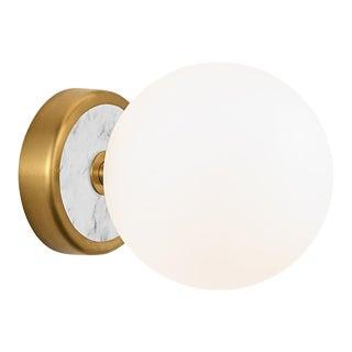 Lunar Single Wall Light in Brass For Sale