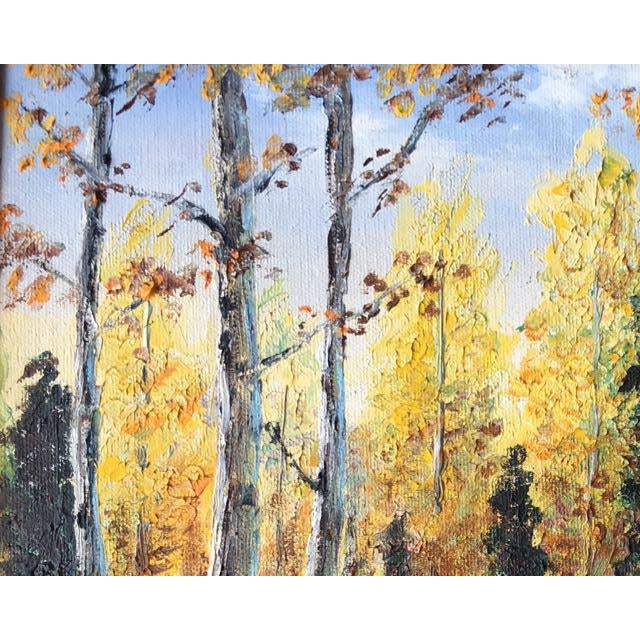 Autumn Aspens Original Painting For Sale - Image 4 of 9