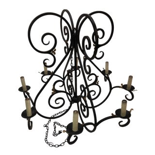 Exquisite Vintage Spanish Colonial Santa Barbara Style Chandelier