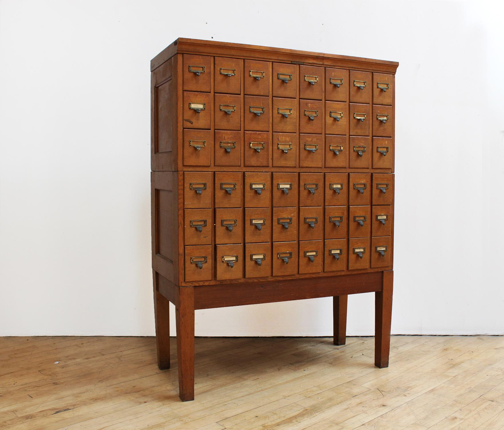 Library Card Catalog Cabinet Quarter Sawn Oak Library Bureau Sole