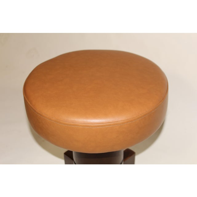 Vintage Mahogany Stools For Sale - Image 4 of 7