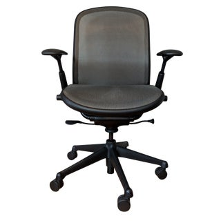 Contemporary Knoll Chadwick Black Office Desk Chair For Sale