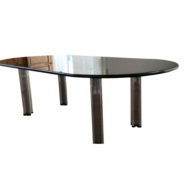 1980's Knoll Racetrack Black Marble Table - Image 2 of 7